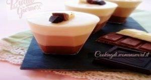 Bicchierini con i 3 colori del Cioccolato